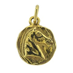 Chanel Gold Horse Medallion Pendant