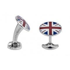 Deakin & Francis Enamel Sterling Silver Union Jack Cufflinks