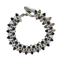 Tamara Comolli Multi-Color Sugarloaf Citrine Gold Bracelet