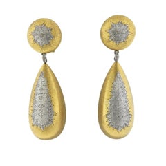 Mario Buccellati Gold Teardrop Geminato Earrings