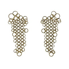 H. Stern Gold Mesh Drop Earrings