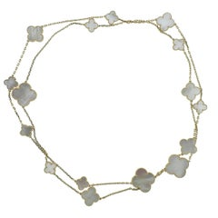 Van Cleef & Arpels Magic Alhambra Mother of Pearl Gold 16 Motif Necklace