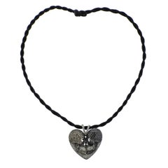 Alp Sagnak Diamond Sapphire Skull Heart Pendant Gold Necklace