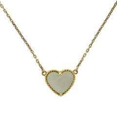 Van Cleef & Arpels Lucky Alhambra Mother-of-Pearl Gold Heart Necklace
