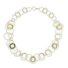 Ippolita Hammered Jet Set Link Gold Necklace