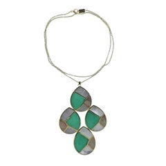 Ippolita Mosaic Mother-of-Pearl Chrysoprase Gold Pendant Necklace