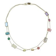 Ippolita Rock Candy Summer Rainbow Gemstone Gold Necklace
