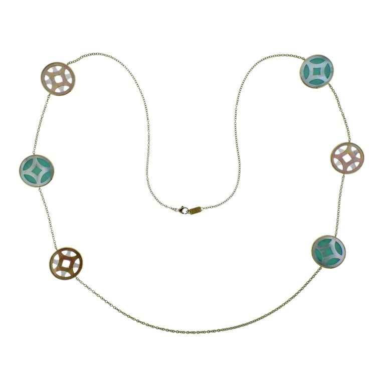 Ippolita Rock Candy Turquoise Isola Gold Station Necklace