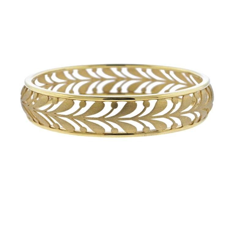 Tiffany & Co. Paloma Picasso Gold Villa Paloma Palm Bracelet
