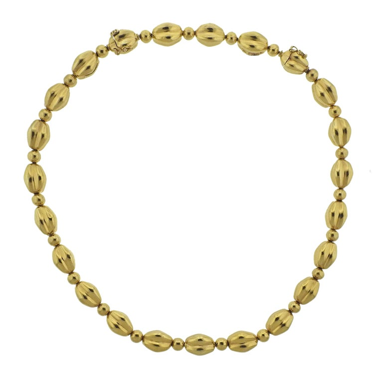 Lalaounis Greece Gold Necklace