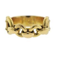 Hermes Gold Chain Ring