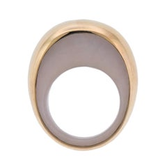 Vhernier Pirouette Pink Opal Gold Ring
