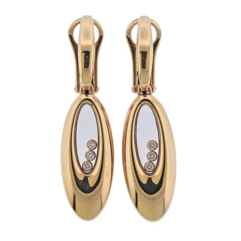 Chopard Happy Diamonds Gold Earrings