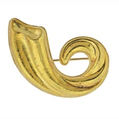 Lalaounis Greece Gold Brooch Pin