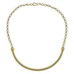 Elizabeth Locke Hammered Gold Necklace