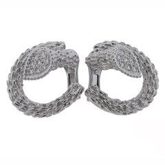 Boucheron Serpent Boheme Diamond White Gold Earrings