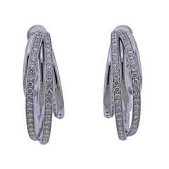 De Grisogono Diamond Gold Allegra Hoop Earrings