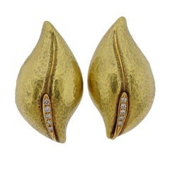 Tiffany & Co. Paloma Picasso Diamond Gold Earrings