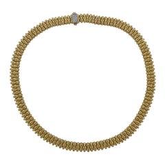 Roberto Coin Appassionata Diamond Gold Necklace