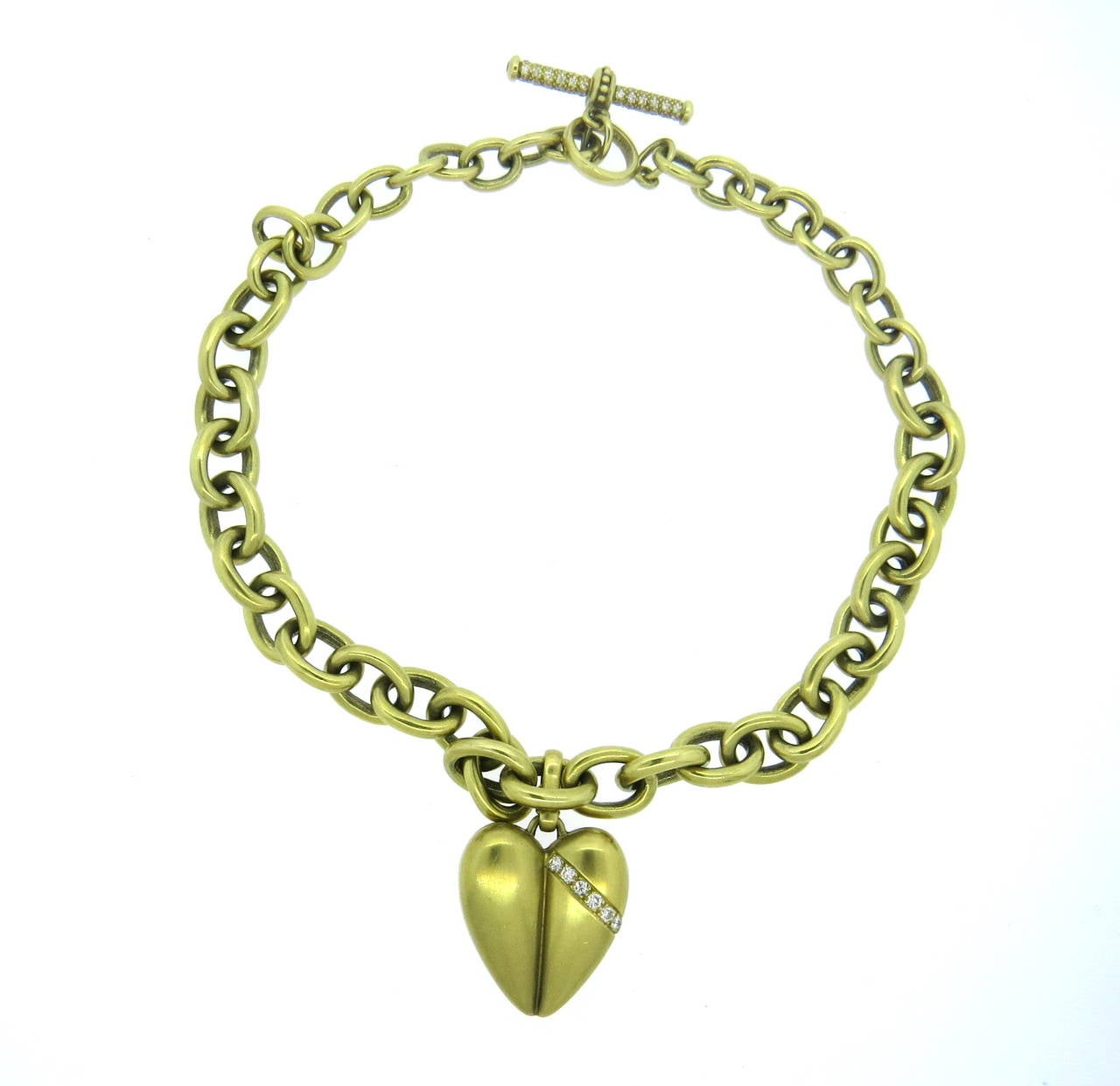 vahe naltchayan gold toggle necklace with