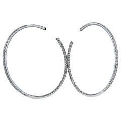 Chopard Large Inside Out Diamond Gold Hoop Earrings