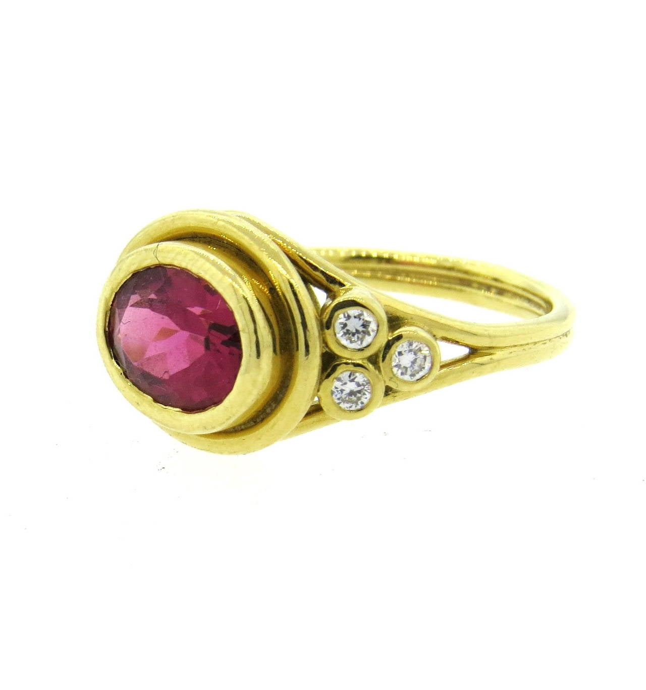 temple st clair pink tourmaline gold ring at 1stdibs