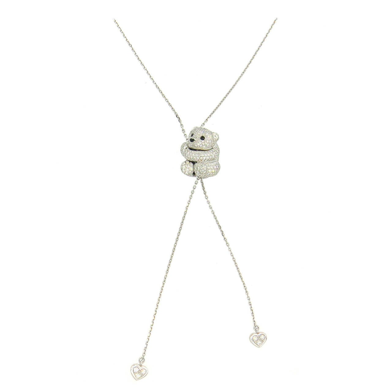 Chopard Diamond Gold Bear Pendant Necklace