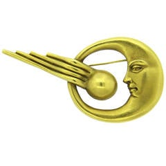 Barry Kieselstein Cord Gold Meteor Brooch Pin
