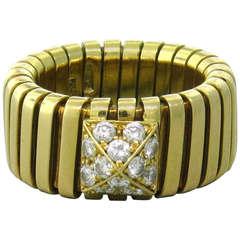 Bulgari Tubogas Diamond Gold Ring
