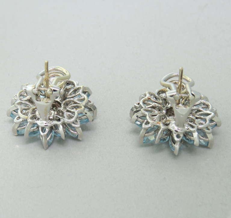 Metal 18k White Gold Gemstones Aquamarines 2 00ctw Diamonds 0 26