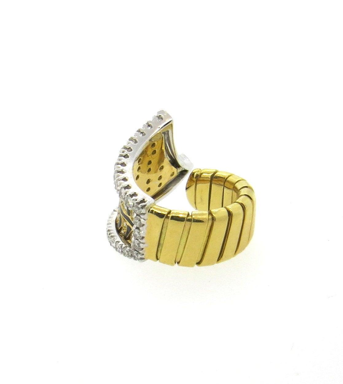 beautiful black enamel gold tiger pattern ring at