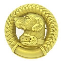 Barry Kieselstein-Cord Labrador Dog Gold Brooch Pin