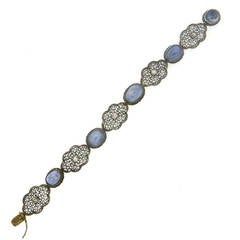 Buccellati Gold and Silver Sapphire Diamond Bracelet