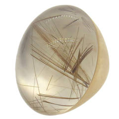 Roberto Coin Fantasia Rutilated Quartz Gold Ring