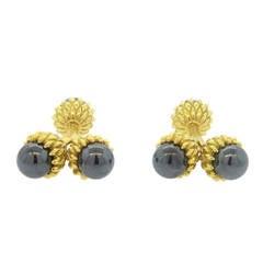 Tiffany & Co. Jean Schlumberger Hematite Gold Acorn Cufflinks