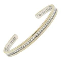 Bulgari B.zero1 Diamond Gold Cuff Bracelet