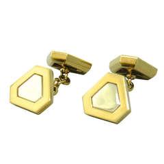 Classic Triangles Marina B Gold Cufflinks