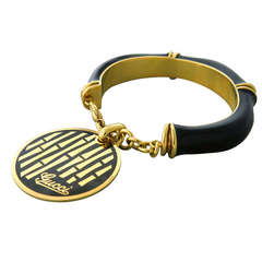 Gucci Gold Bamboo Charm Bracelet