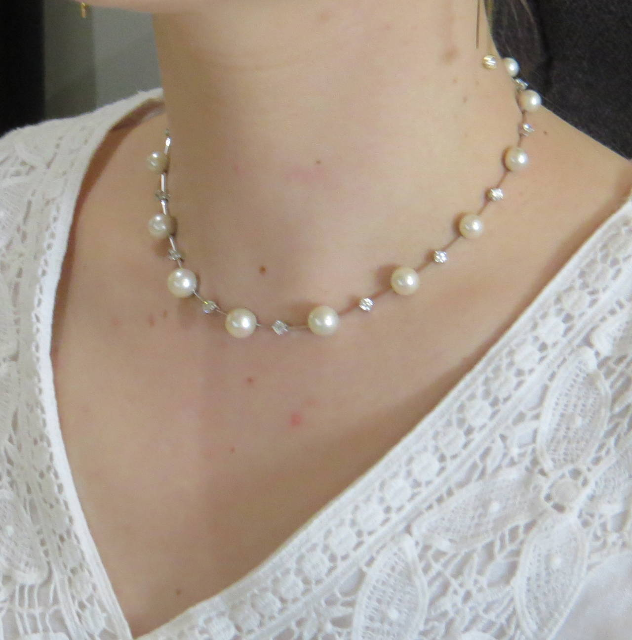 products mother peal low necklace lunaria with white diamond y of b mpw pearl graduated pave