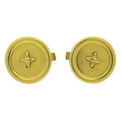 Tiffany & Co. Large Gold Button Cufflinks