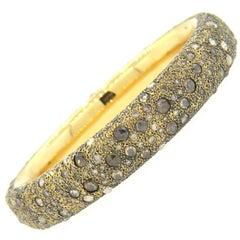 Pomellato Tango Gold Diamond Bangle Bracelet