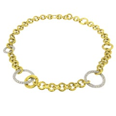 Pomellato Maglia Gold Diamond Necklace
