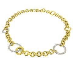 Pomellato Maglia Gold Diamond Necklace