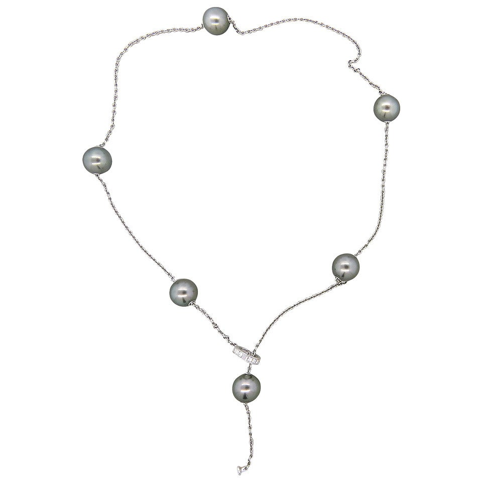 Mikimoto Pearls In Motion Gold Diamond Tahitian Pearl