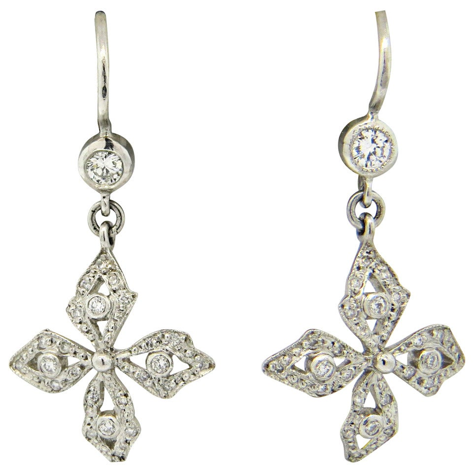 cathy waterman platinum earrings at 1stdibs