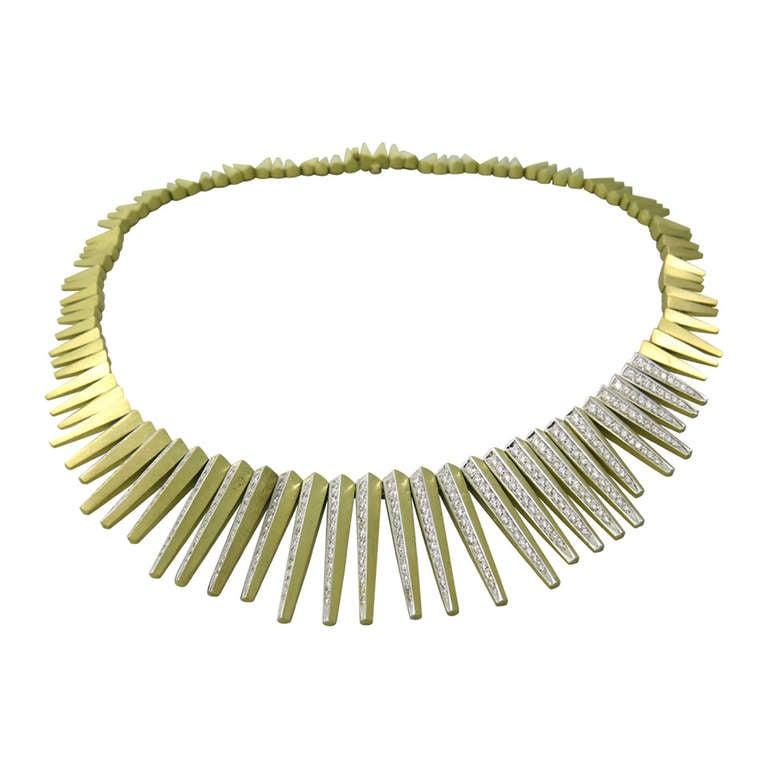 H. Stern Gold Diamond Necklace