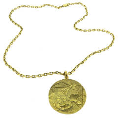 1970s Tiffany & Co. Gold Taurus Zodiac Pendant Necklace