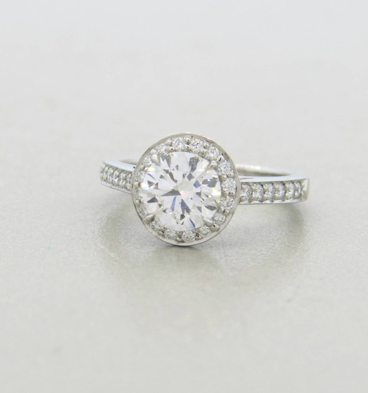 Tiffany & Co 0 99 Carat Diamond Platinum Embrace Engagement Ring image 2