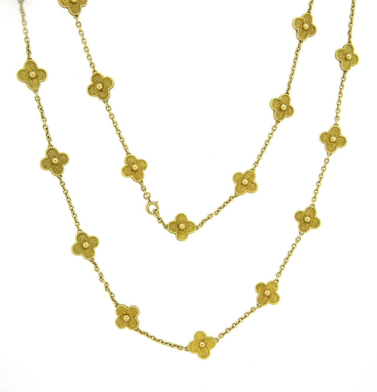 Clover Necklace Van Cleef: Van Cleef And Arpels Vintage Alhambra Twenty Motif Gold