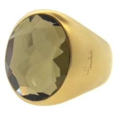 Pomellato Narciso Smokey Quartz Gold Ring